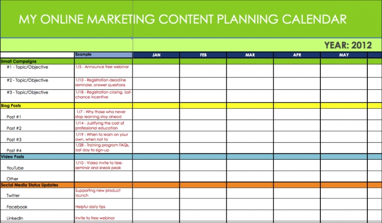 1000 Images About Editorial Content Calendar Templates On3abry