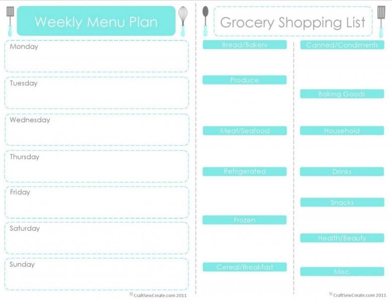 20 Free Menu Planner Printables Fab N39 Free3abry