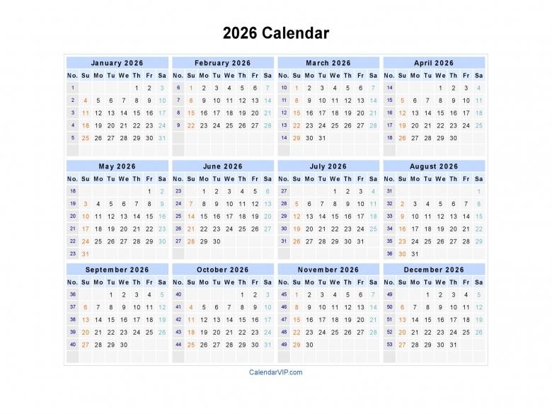 2016 Week Number Calendar Blank Calendar Design 20163abry
