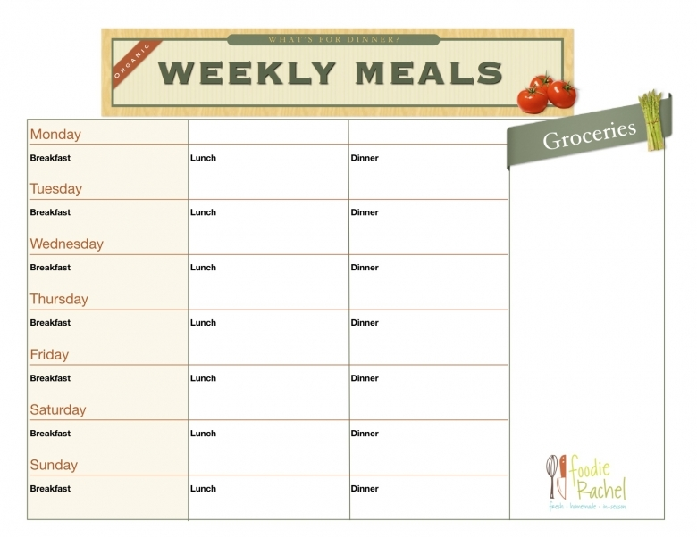 6 Best Images Of Printable Daily Food Planner Daily Meal Planner3abry