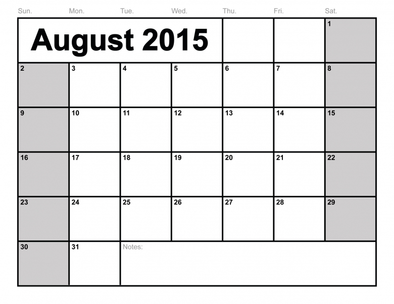 7 Best Images Of Free Printable Lined Monthly Calendars August3abry