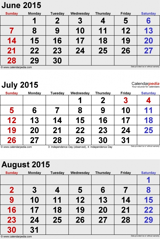 August 2015 Calendars For Word Excel Amp Pdf3abry