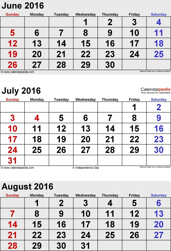 August 2016 Calendars For Word Excel Amp Pdf3abry