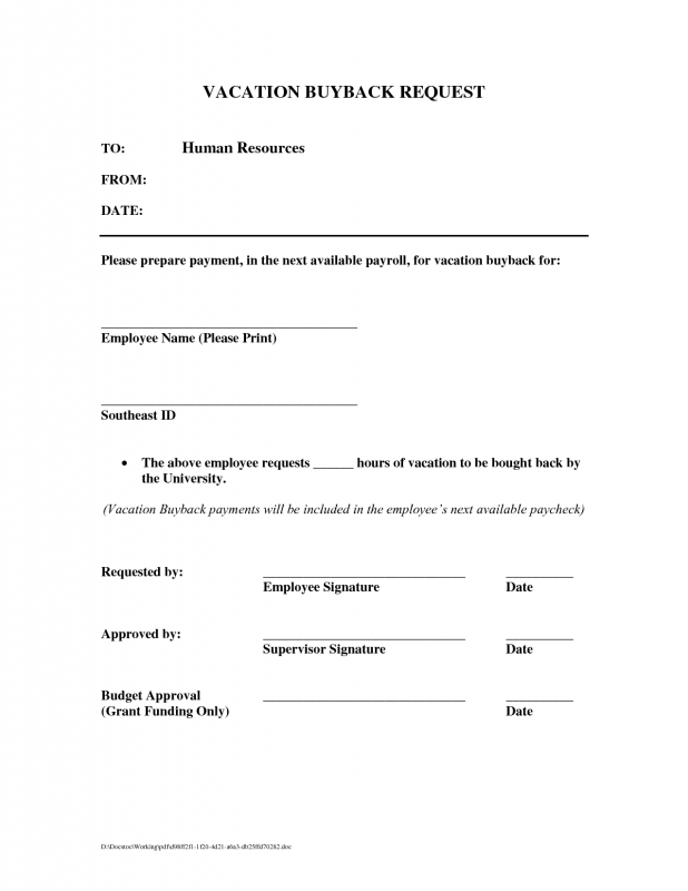 Best Photos Of Free Vacation Request Form Template Vacation  xjb