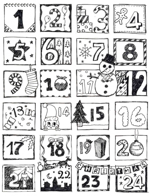 Coloring Pages Advent Calendar Az Coloring Pages3abry