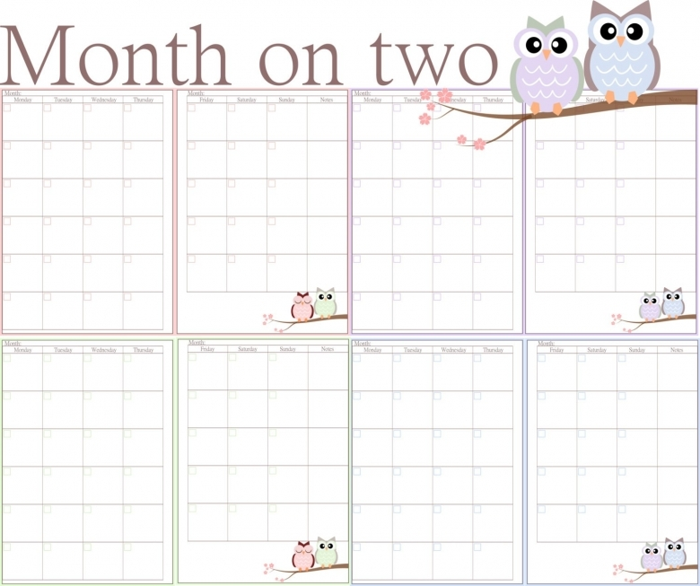 Diy 2016 Calendars Ideas A5 Filofax Printable Month On Two Pages3abry