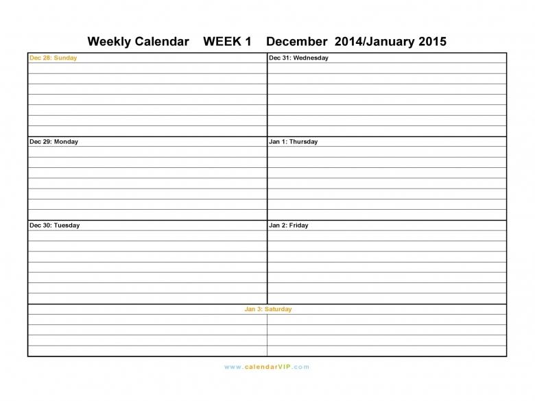 Free Weekly Calendar Template Best Photos Of Blank Weekly Planner3abry