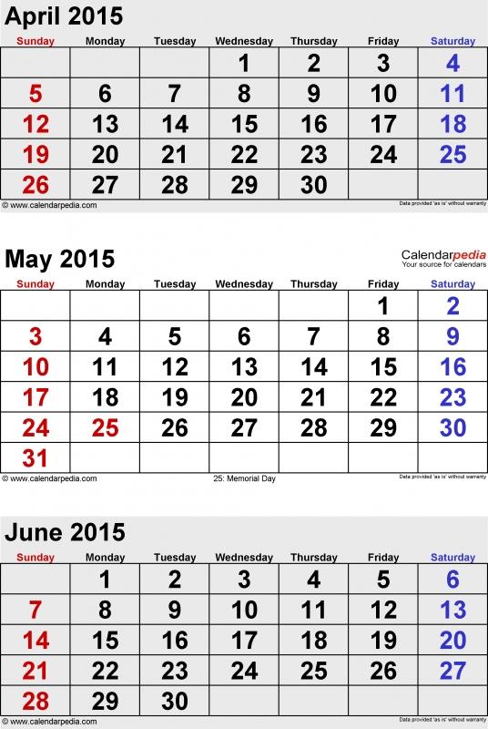 June 2015 Calendars For Word Excel Amp Pdf  xjb