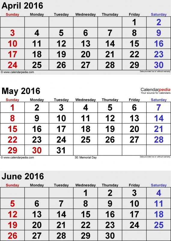 June 2016 Calendars For Word Excel Amp Pdf  xjb