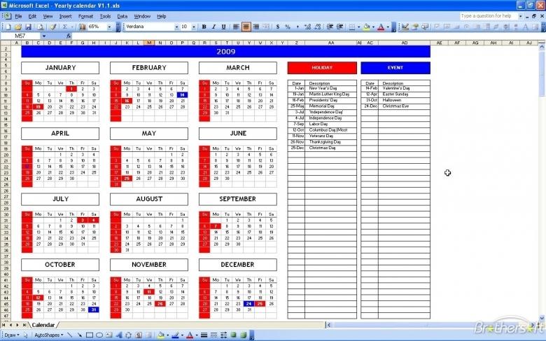Microsoft Excel Calendar Calendar 2017 Template3abry