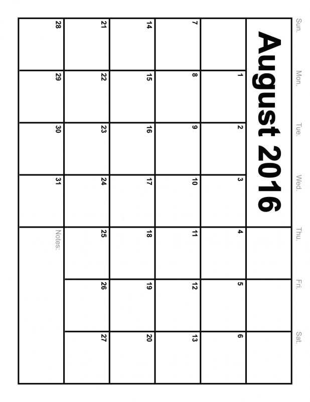10 Best Images Of 8 X 11 Printable Calendar August 20163abry
