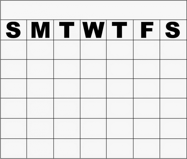 10 Best Images Of Monday Through Friday Calendar Template Blank3abry