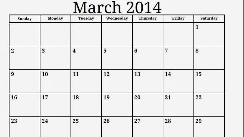 All Blank Calendar 2013 2014 2016 Blank Calendar Calendar En3abry