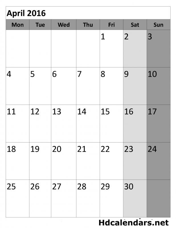 Calendar Vertical Printable : Blank vertical calendar free template