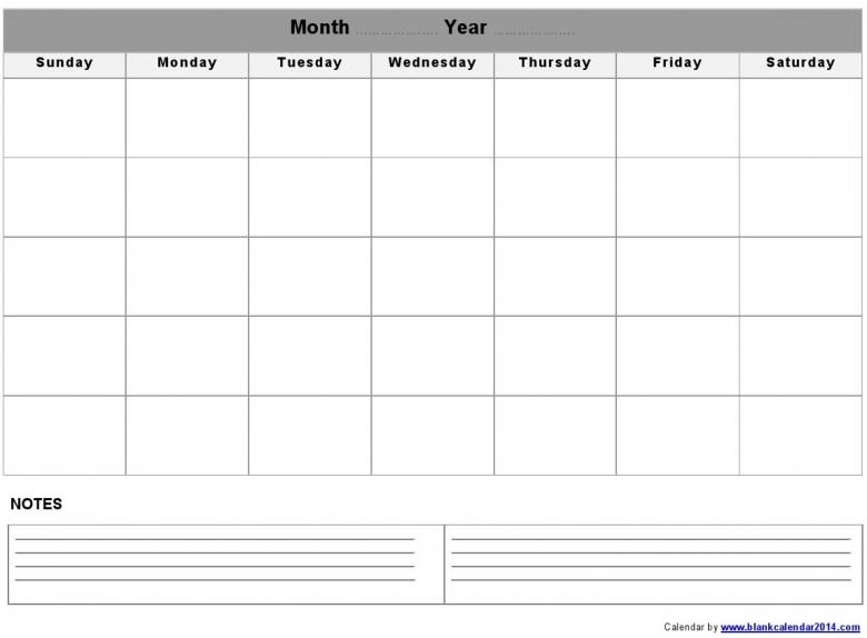 Blank Monthly Calendar Template Printable Calendar Templates3abry