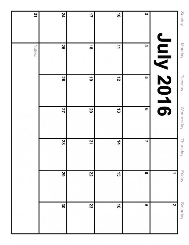 Calendar Pages Vertical : Blank vertical calendar free template
