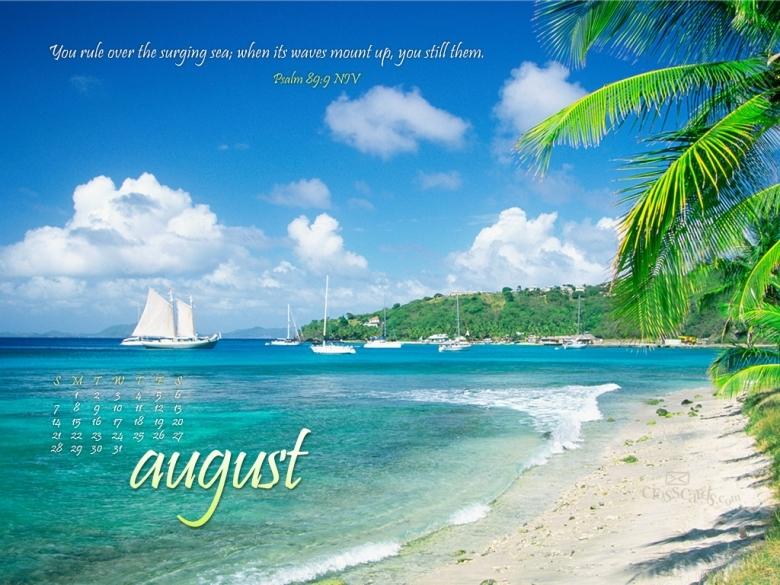 Monthly Calendar Wallpaper : Crosscards calendar wallpaper free template