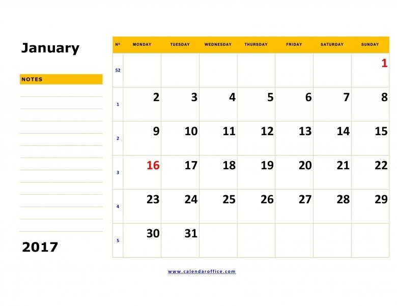Free January Calendar Get Calendar Templates  xjb