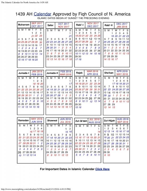 Islamic Calendar North America 2016 Blank Calendar Design 2016  xjb
