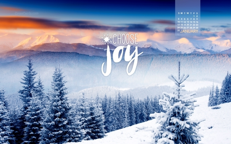 January 2016 Choose Joy Desktop Calendar Free January Wallpaper  xjb