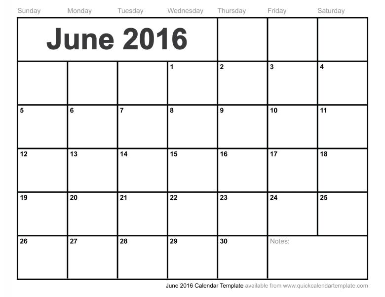 June 2016 Calendar Template Free Calendar 20173abry