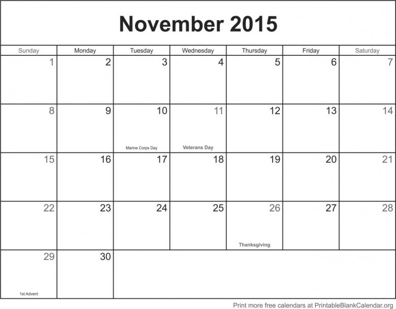 November 2015 Printable Calendar Template Blank Calander Pages3abry