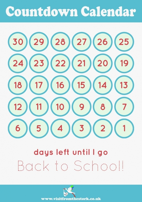 Countdown Calendar Template Advent Calendar With Pastel Colored