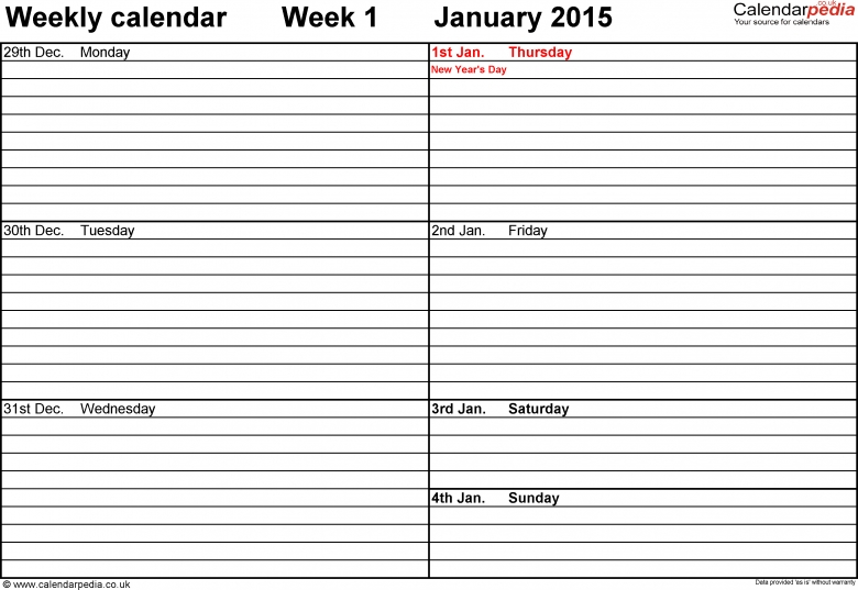 Excel Vacation Schedule Template