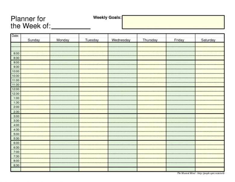 Weekly Planner Template Samples And Templates3abry