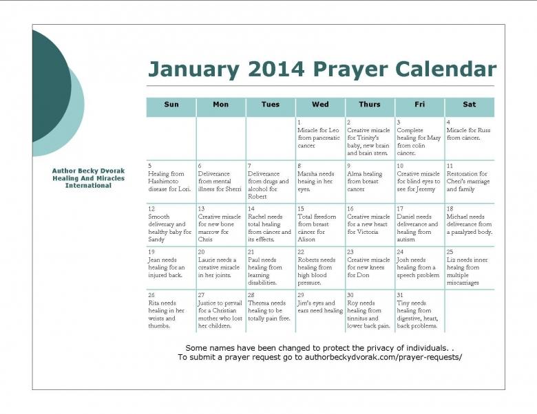 World Prayer Calendar Daily Calendar Schedule Printable3abry
