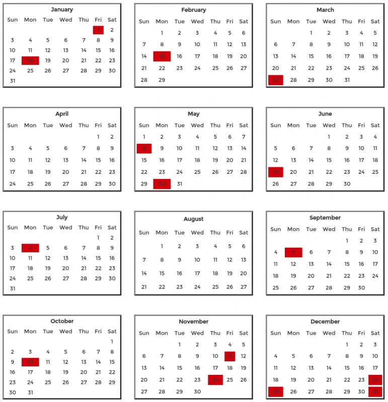 2016 National Holiday Schedule  xjb
