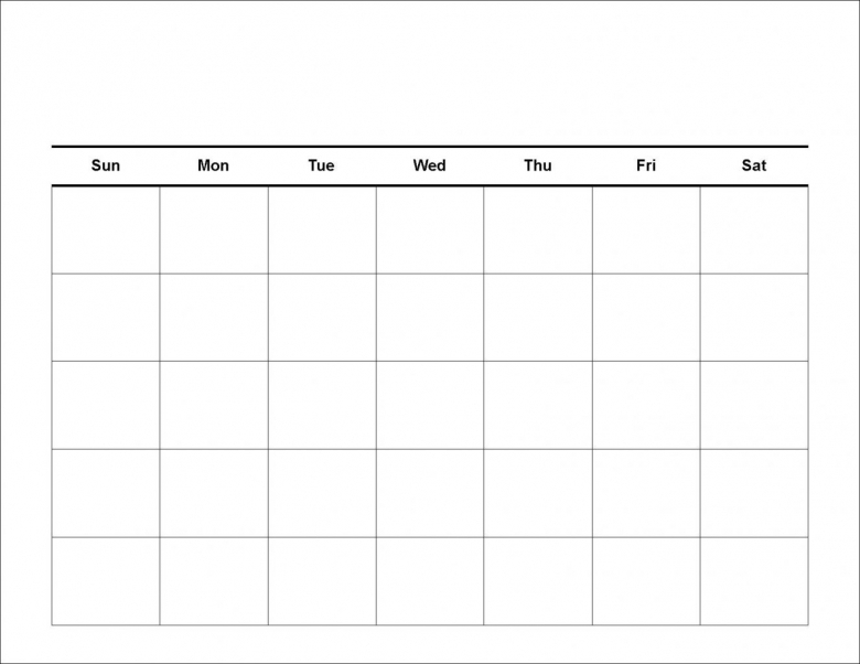 5 Week Calendar Template Planner Templat 5 Day Week Printable3abry