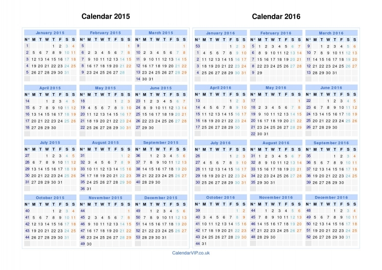 Calendar With Numbered Days 365 :-Free Calendar Template