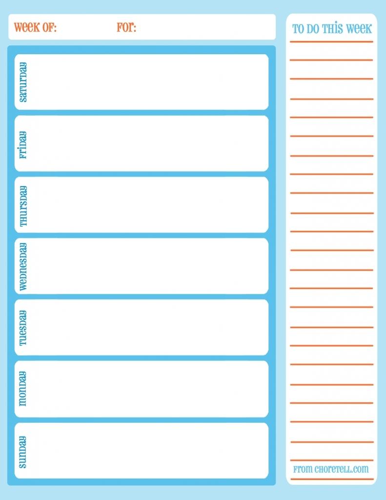 Daily Task Calendar Printable Free Calendar Template