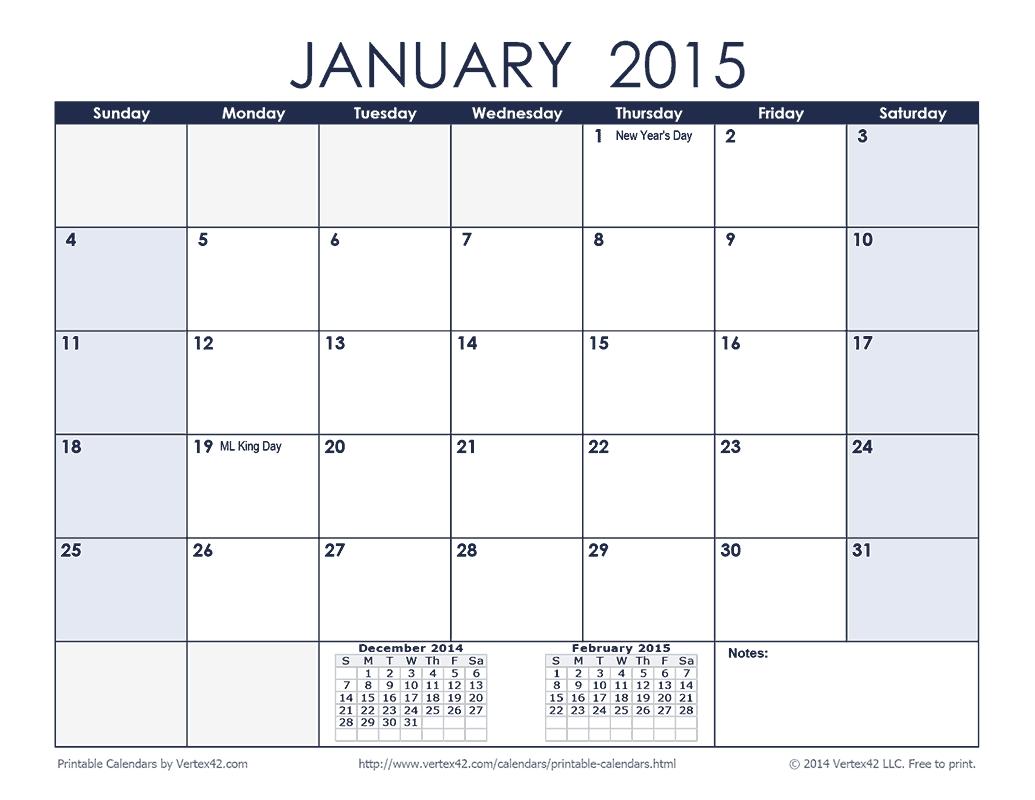 January Calendar 2017 Printable 2017  xjb