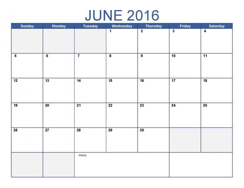June 2016 Printable Calendar Blank Templates Printable 89uj