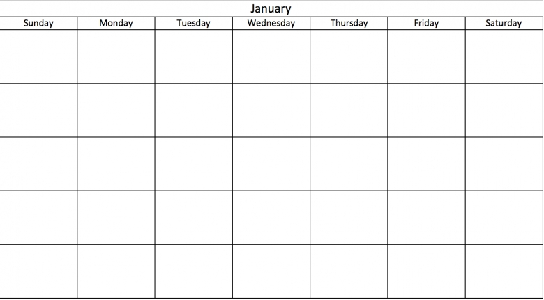 Make A 2017 Calendar In Excel Includes Free Template  xjb