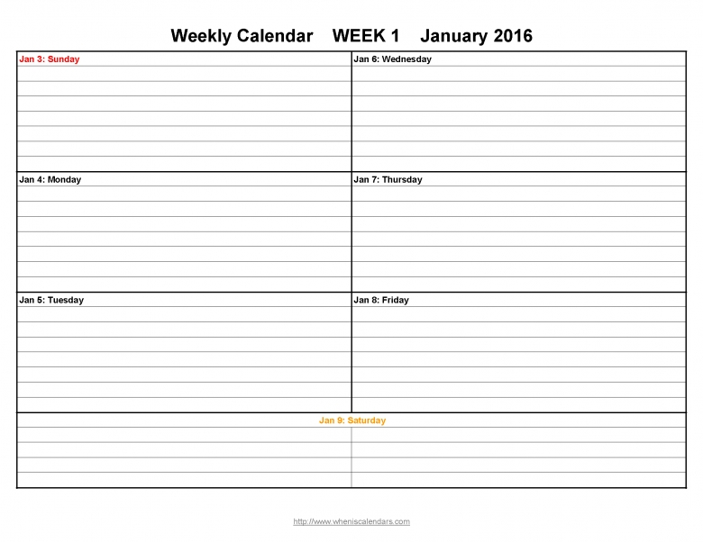 Free Printable Calendars With Notes Free Calendar Template