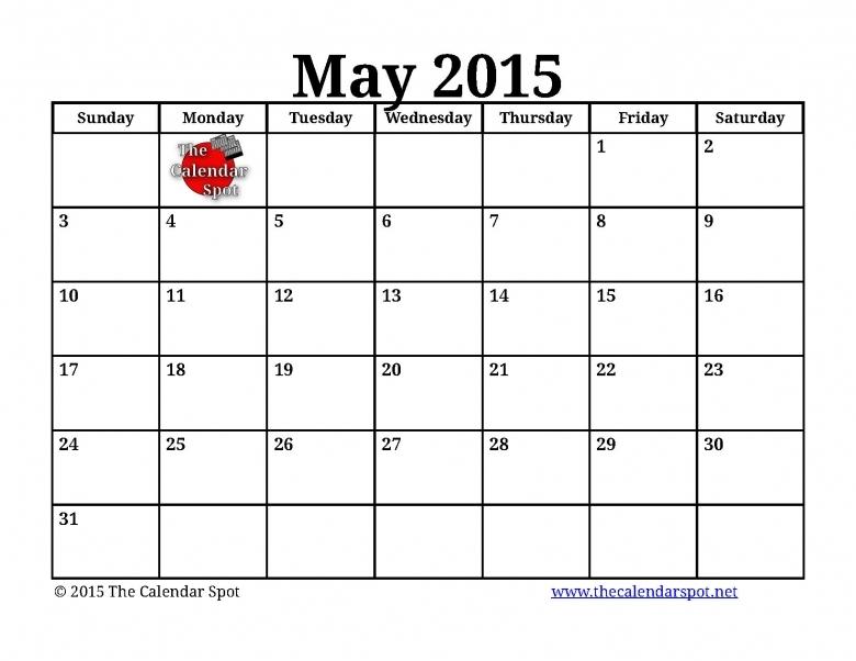 Calendar Spot June : The calendar spot free template