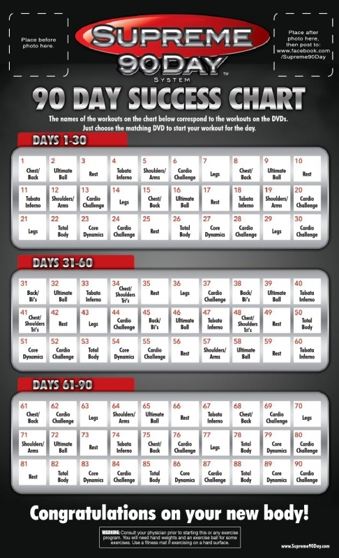 Supreme 90 Day Workout Schedule With Time For Once In My Life3abry