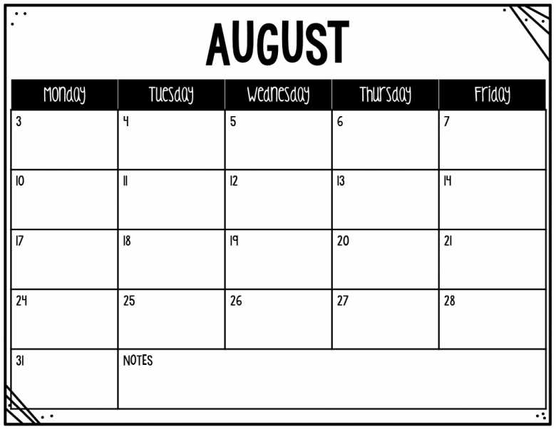 The Teaching Oasis Monthly Calendars And Newsletter Templates  xjb
