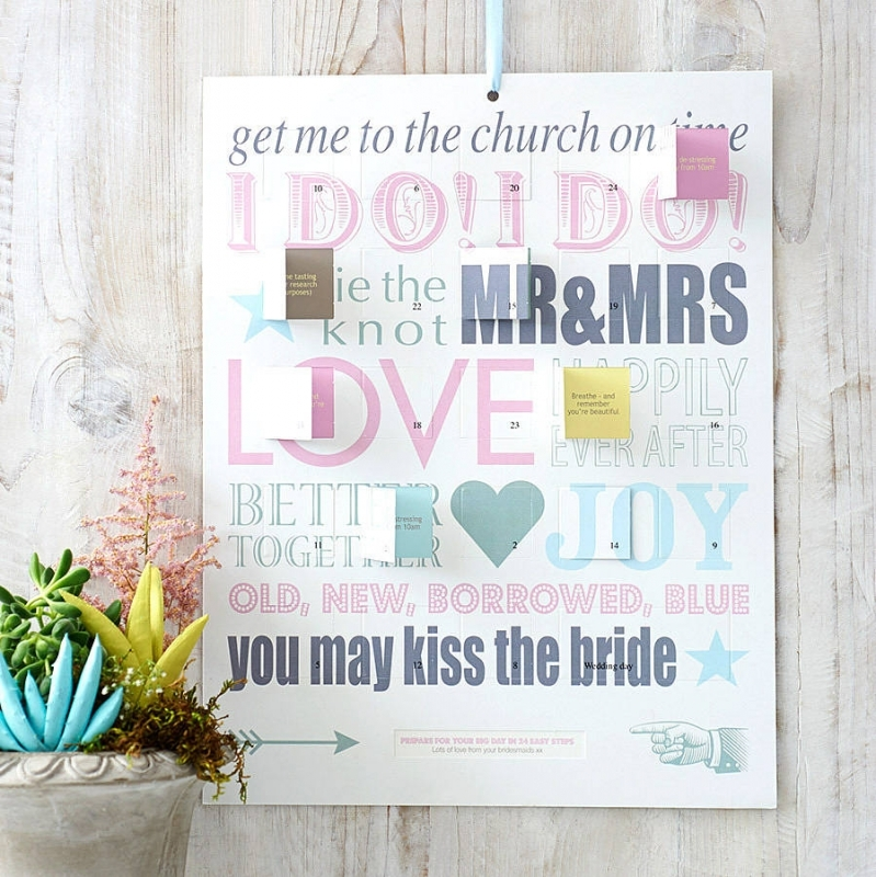 Wedding Countdown Card Wedding Countdown Card Personalised  xjb