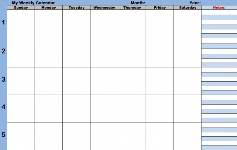 Weekly Calendar With Time Slots Template Weekly Calendar Template  xjb