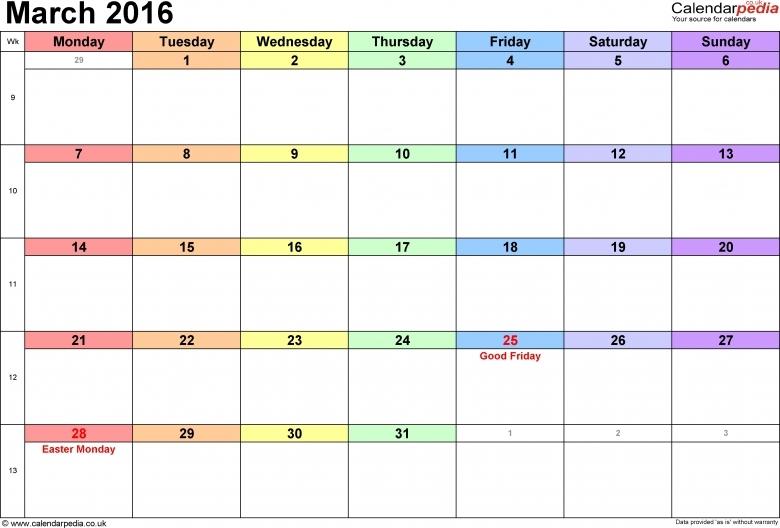 2016 Calendar With Holidays Bold Print Calendar Printable Template 89uj