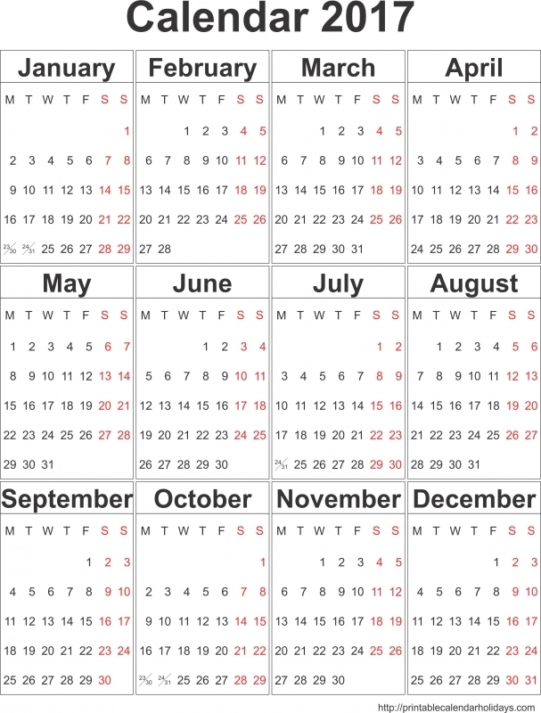 2017 Yearly Calendar Archives Free Printable Calendar 2016  xjb