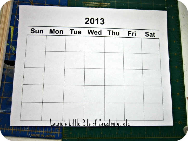 Blank Understated Calendar : Template understated calendar publisher free