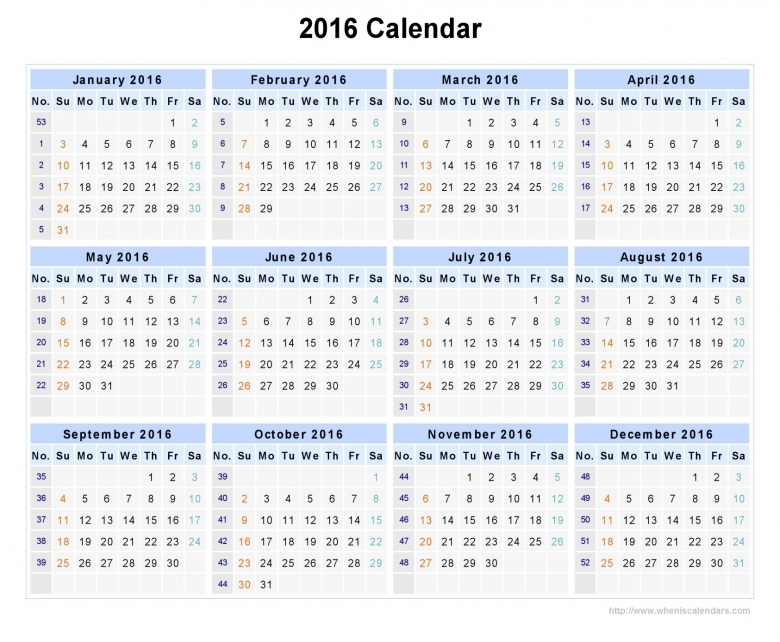 2016 Calendar With Week Numbers When Is Calendar 89uj