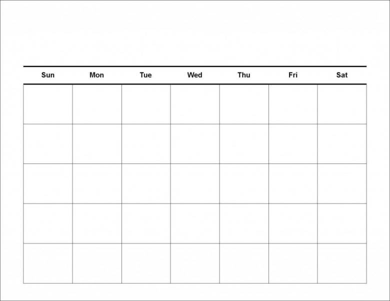Blank Workout Calendar Template3abry