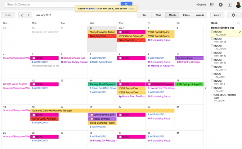 Calendar Organizational Calendar Template  xjb
