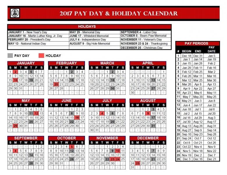 Calendar With Federal Paydays Calendar Template 20173abry